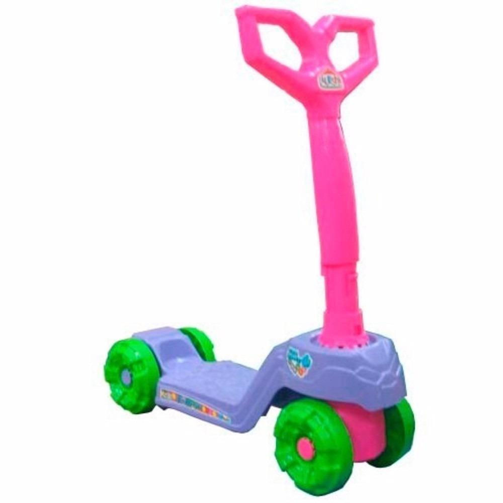 Patinete Mini Scooty Girl - Lilás/ Rosa - Calesita