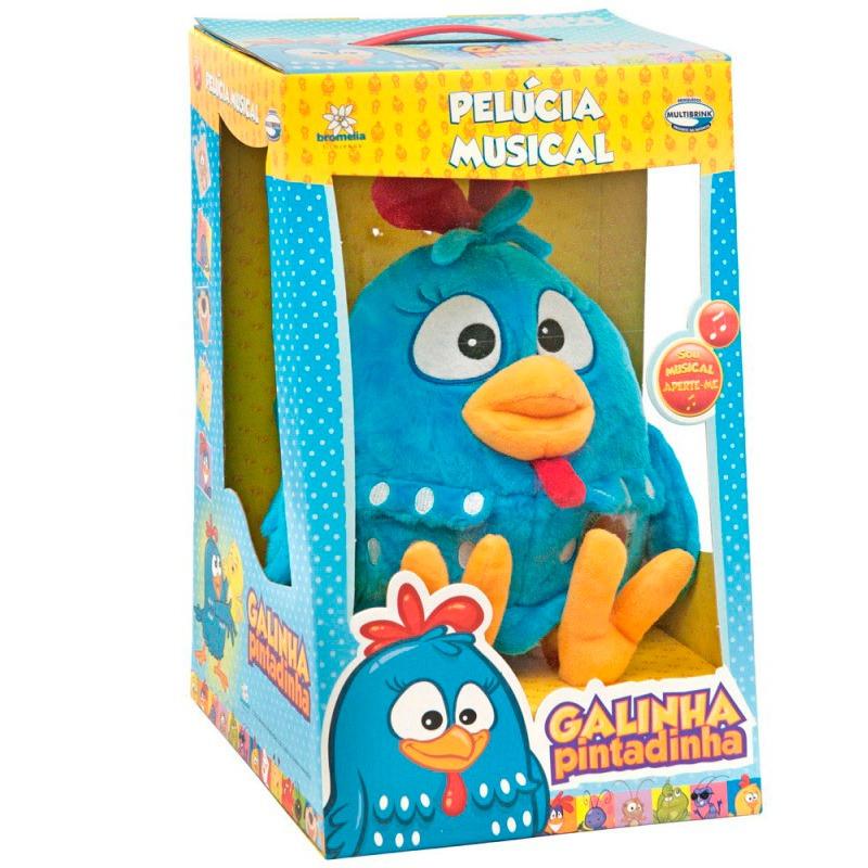Pelúcia Galinha Pintadinha Musical - Multibrink