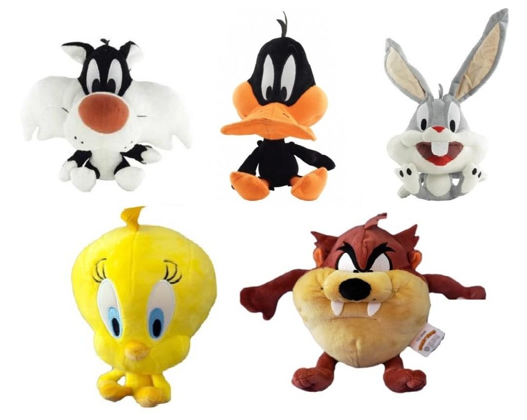 Pelúcia Looney Tunes - Frajola/ Patolino/ Perna Longa/ Piu Piu/ Taz Mania - DTC