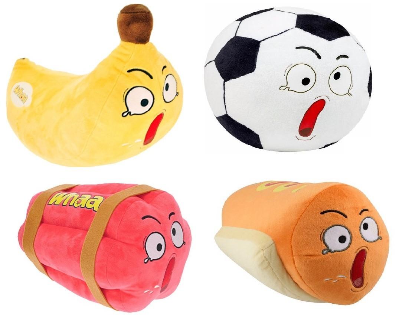 Pelúcia Wha Whaa Whacky - Banana/ Bola de Futebol/ Dinamite/ Hot Dog - DTC