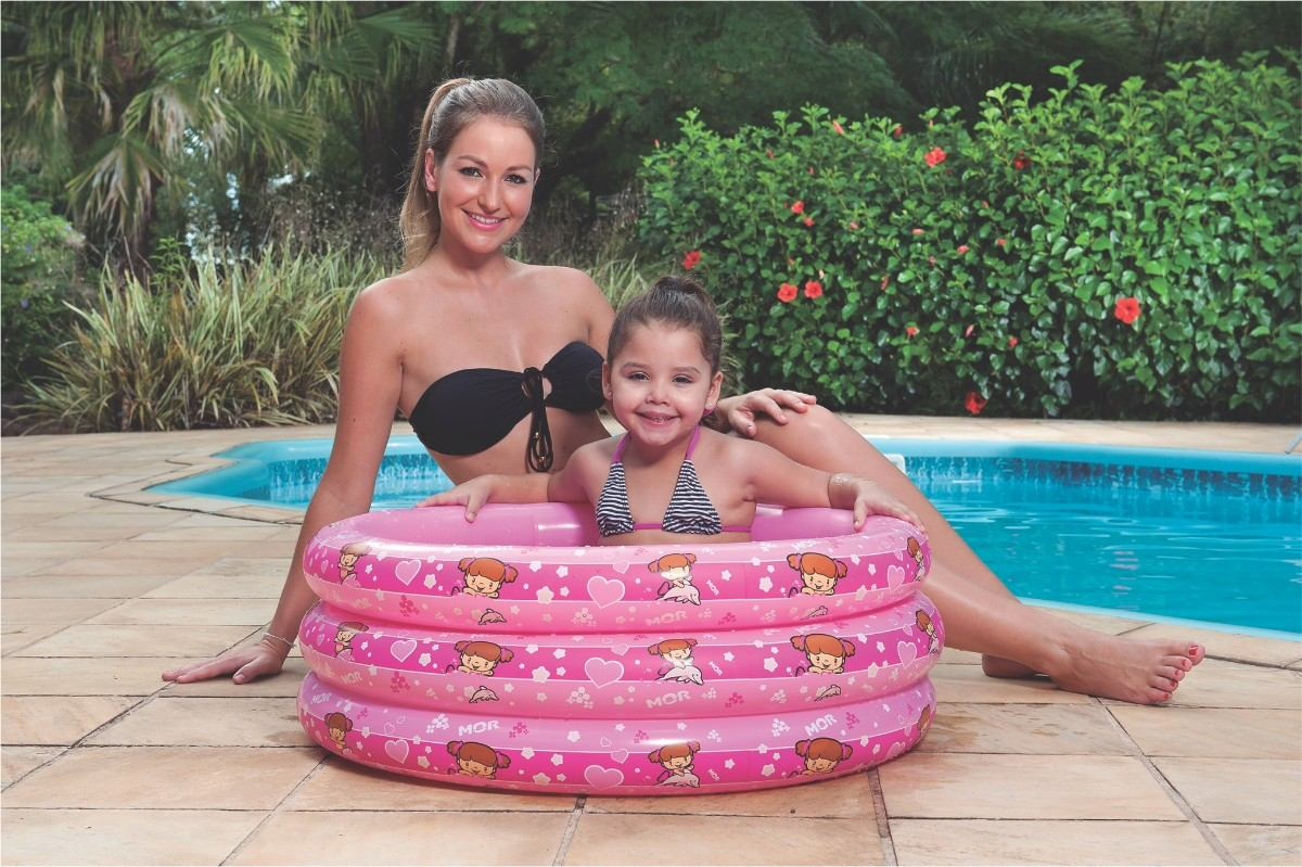 Piscina Infl Vel Infantil Atlantis 90 Litros Redonda Rosa