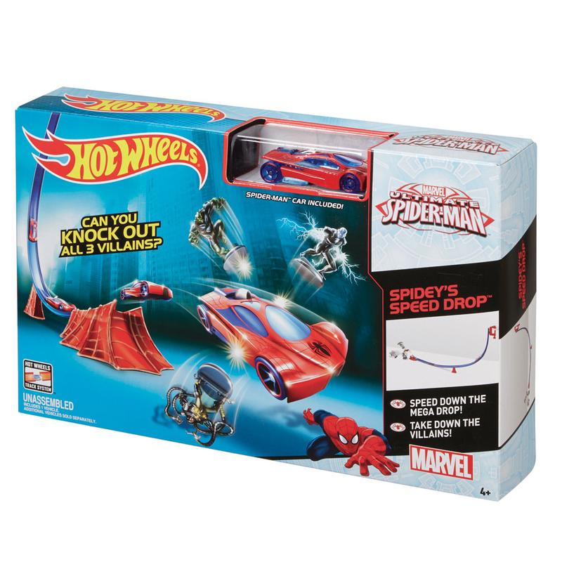 Pista Hot Wheels Ultimate Spider Man Speed Drop - Mattel