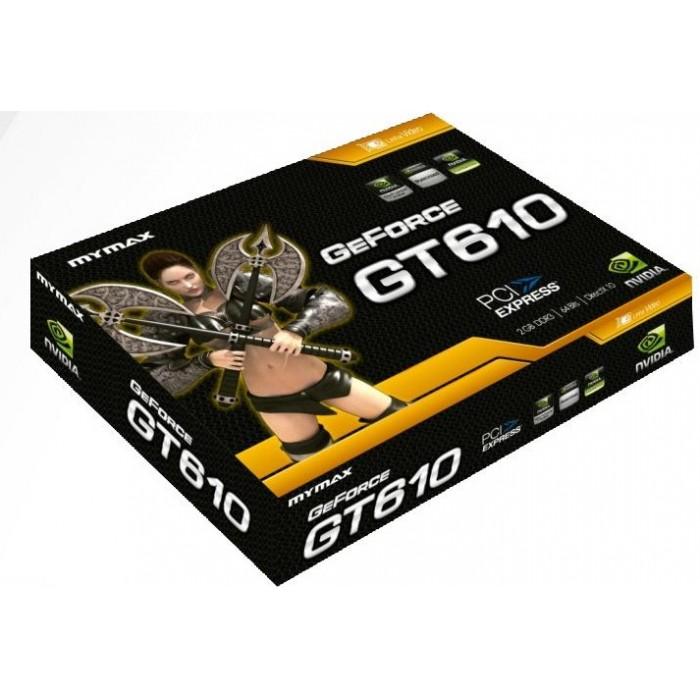 Placa de Vídeo Geforce GT610 2GB DDR3 64-Bits - Mymax