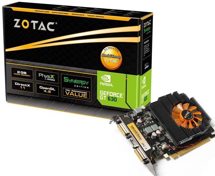 Placa de Vídeo Zotac Geforce GT 630 2GB DDR3 128-Bits DVI / Mini HDMI