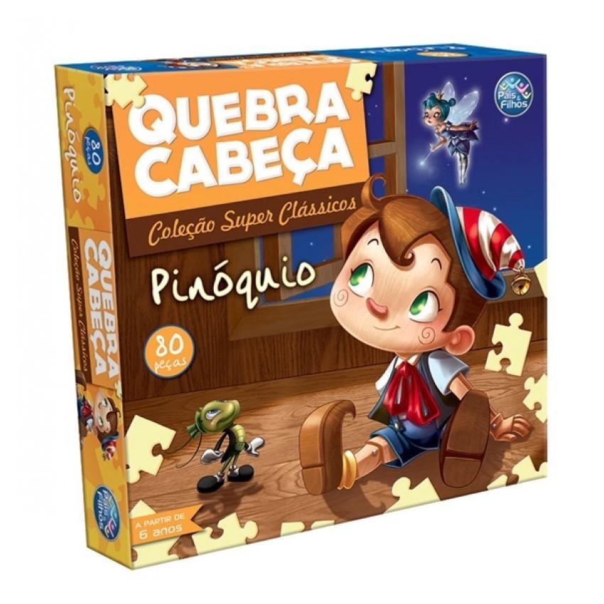 Quebra-cabeça Coleção Super Clássicos Pinóquio 80 Peças - Pais e Filhos