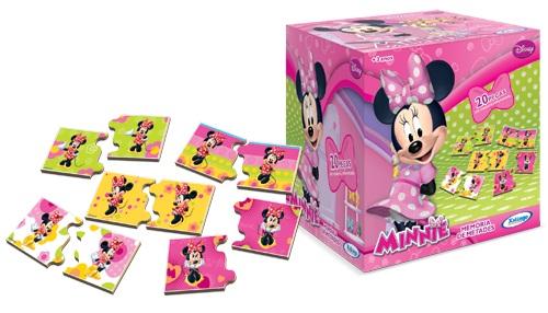 Jogo Memória de Metades Minnie Disney 20 Peças - Xalingo