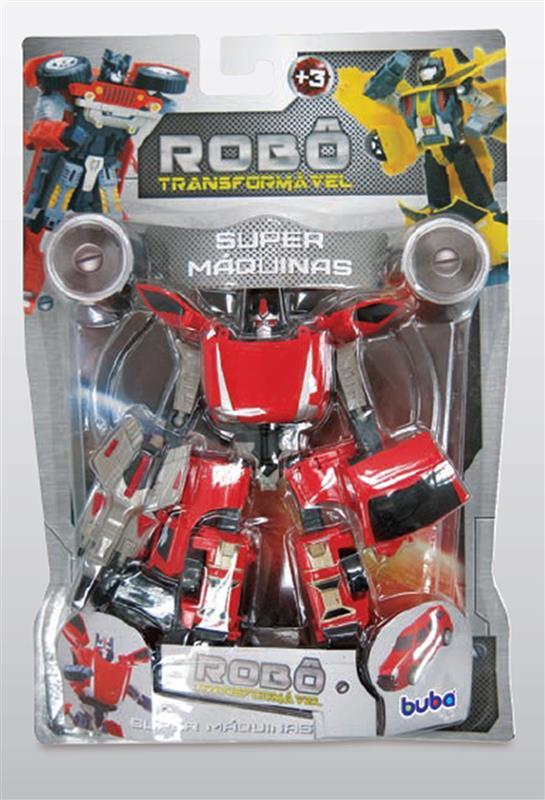 Robô Transformável Super Maquinas Carro Vermelho – Buba