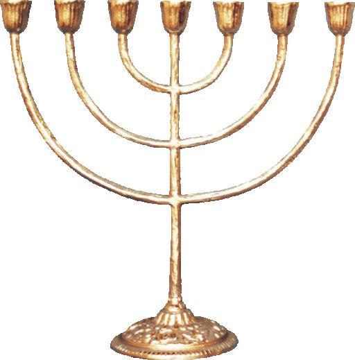 1 - Menorah - Candelabro para 7 Velas - ref:869  - Bronze Shop