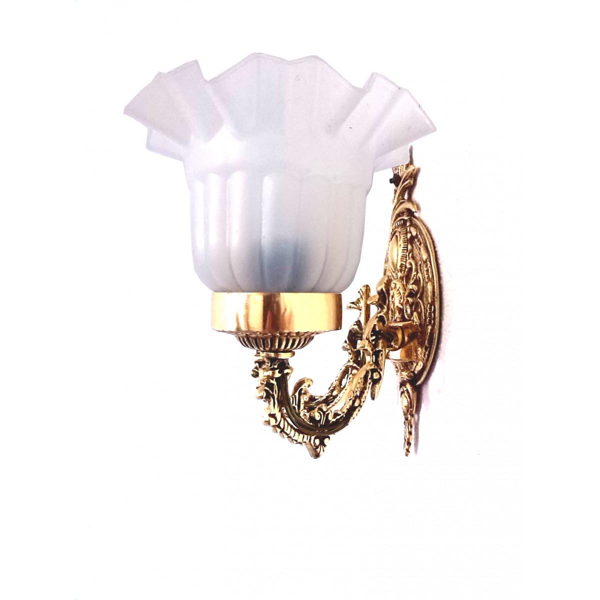 Arandela Dupla Com Tulipa em ABS Inquebrável - Cod 026  - Bronze Shop