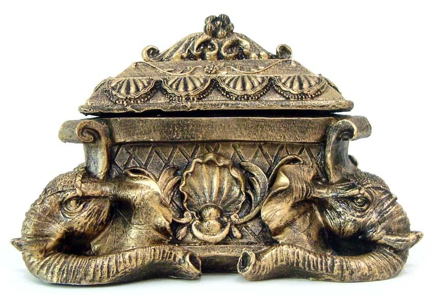 Porta-Joias Elefante em Resina  - Bronze Shop