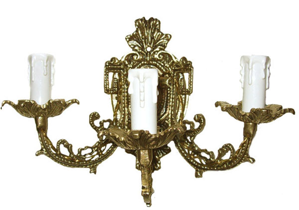 Arandela Castiçal elétrico para 3 Lâmpadas  - Bronze Shop