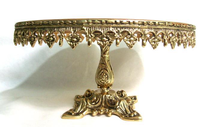 Porta bolo - Bronze Polido ref:135  - Bronze Shop