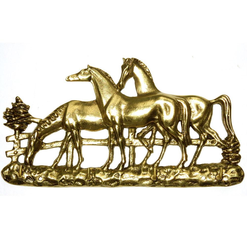Porta Chaves 3 cavalos - Bronze  -   ref: 307  - BronzeShop