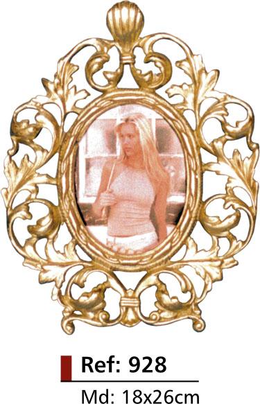 Porta-retrato Oval - Bronze -  ref: 928  - Bronze Shop