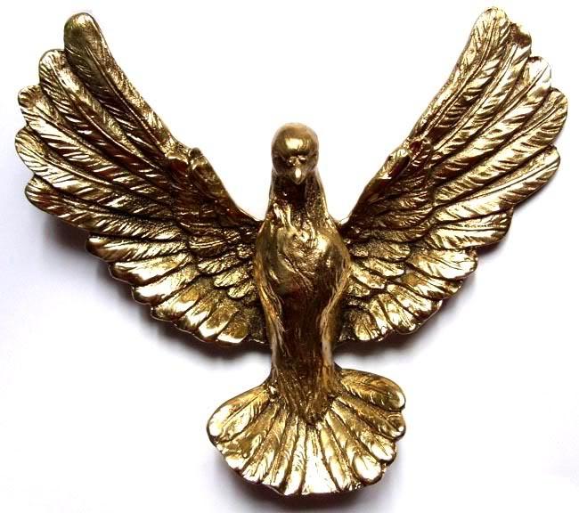 Escultura Pombo - Bronze Polido Brilhante - Rico em Detalhes  - BronzeShop