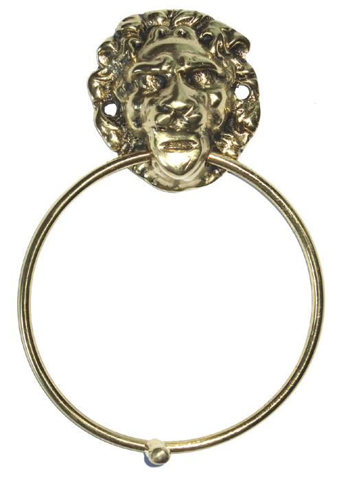 Batedor de Porta - Aldrava - leão- Bronze Maciço -ref: bp-02  - Bronze Shop