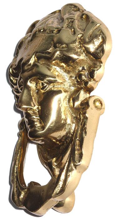 Batedor de Porta - Aldrava - Rosto de Dama - Bronze  - Bronze Shop
