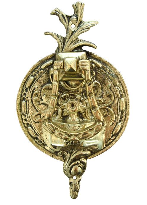 Batedor de Porta - Aldrava Européia - Tradicional Redondo - Bronze Maciço  - Bronze Shop