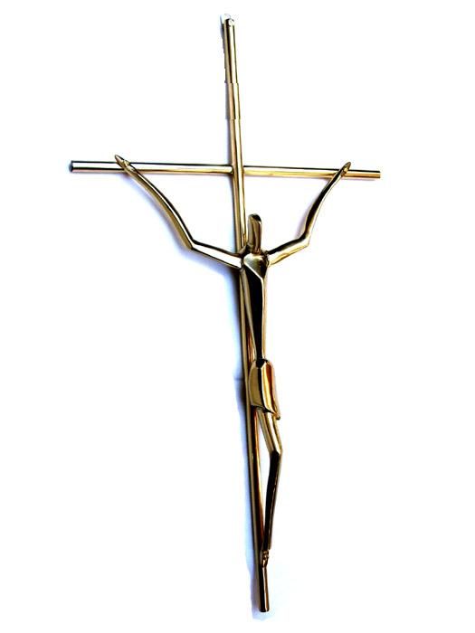 Crucifixo Estilizado Barroco - Bronze Maciço  - BronzeShop