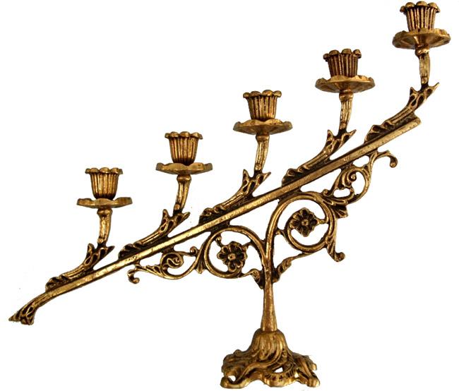 Candelabro para 5 velas Realeza  - Bronze Shop
