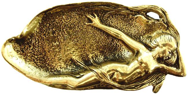 Saboneteira Sereia -  Grande - Bronze Maciço  - Bronze Shop