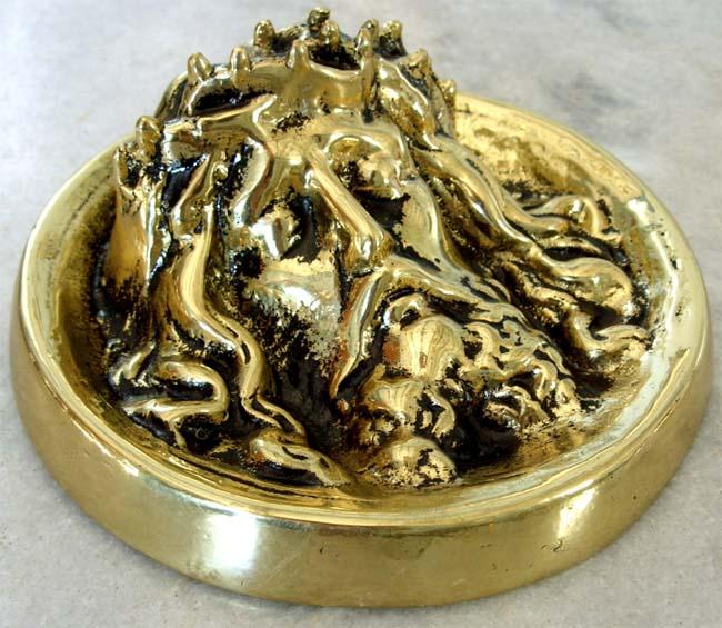 Imagem Jesus Cristo - Alto Relevo- 15 cm - Rico em Detalhes  - Bronze Shop