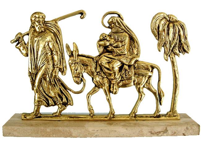 Escultura Fuga do Egito - Bronze - Tam: 36x23 cm  - Bronze Shop