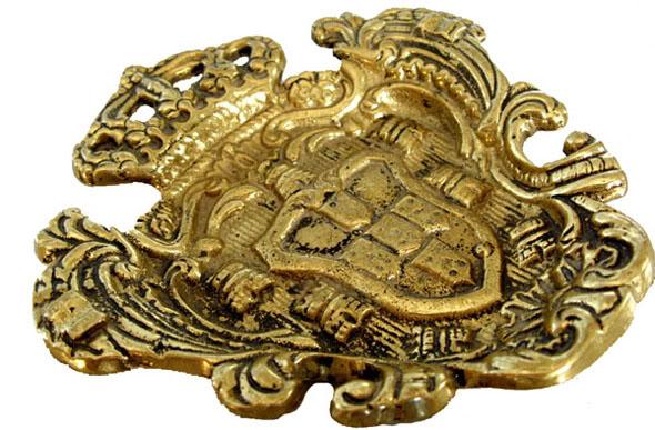 Brasão em Bronze Maciço - Cinzeiro  - BronzeShop