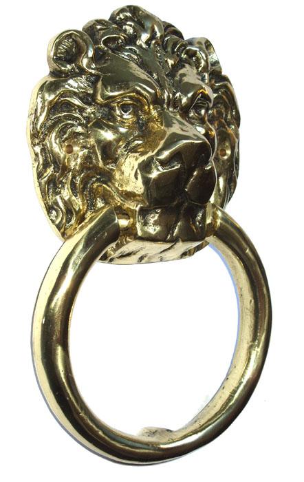 Batedor de Porta Grande ( 25 cm) - Aldrava - Leão- Bronze Maciço  - BronzeShop