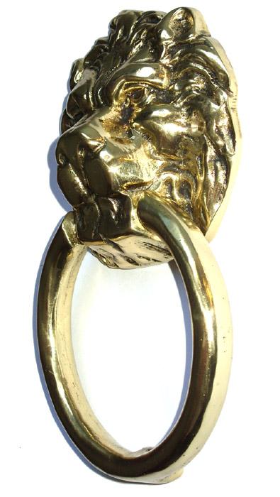 Batedor de Porta Grande ( 25 cm) - Aldrava - Leão- Bronze Maciço  - Bronze Shop