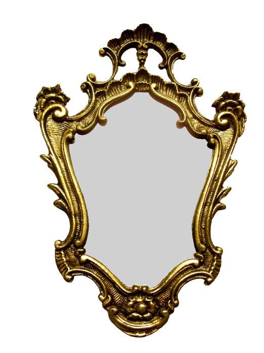 Moldura em Bronze Maciço Para Espelho  Ref: D01  - Bronze Shop