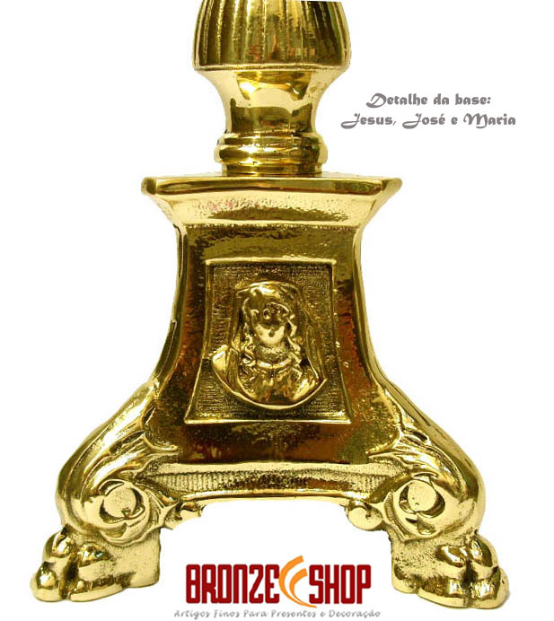 Castiçal  Mais Alto para Igrejas e Altares(grátis apagador de velas)  - Bronze Shop