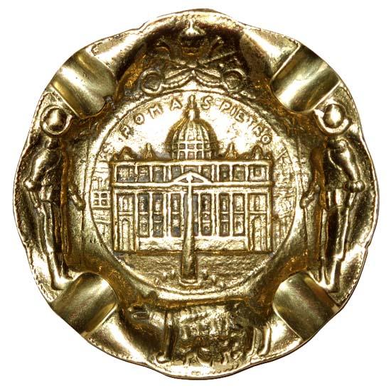 Cinzeiro Roma - Bronze Maciço  - Bronze Shop