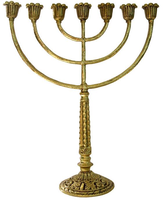 Candelabro Alto para 7 Velas (Menorah) - Bronze maciço (PROMOÇÃO) - Ref: 869-a  - Bronze Shop