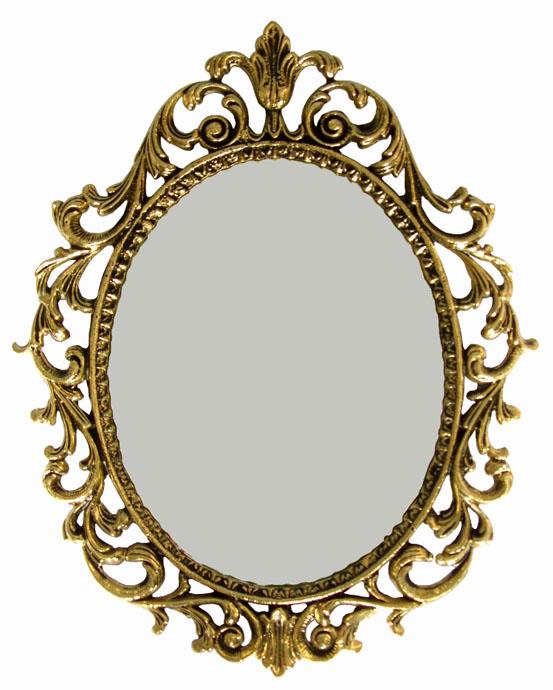 Moldura Barroca para Espelho - Bronze Maciço - Ref: E-02  - Bronze Shop