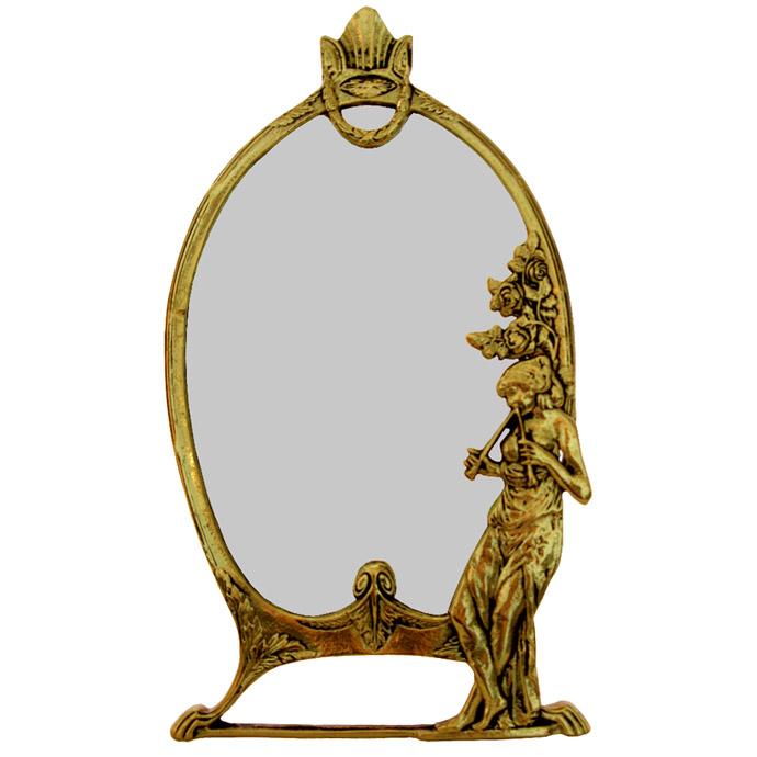 Moldura Trabalhada a Mão para Espelho - Rico em Detalhes  - Bronze Shop