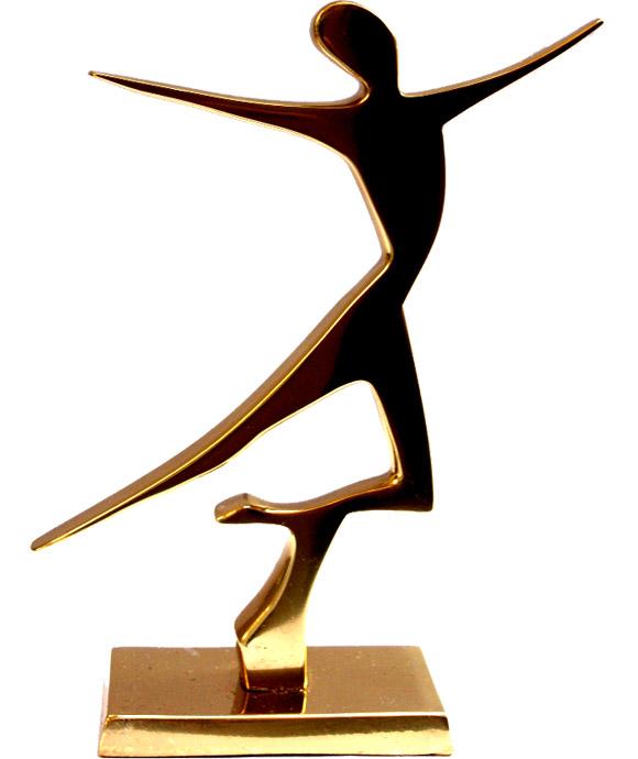 Estátua Dançarina - Bronze Maciço (16x11cm)  - Bronze Shop