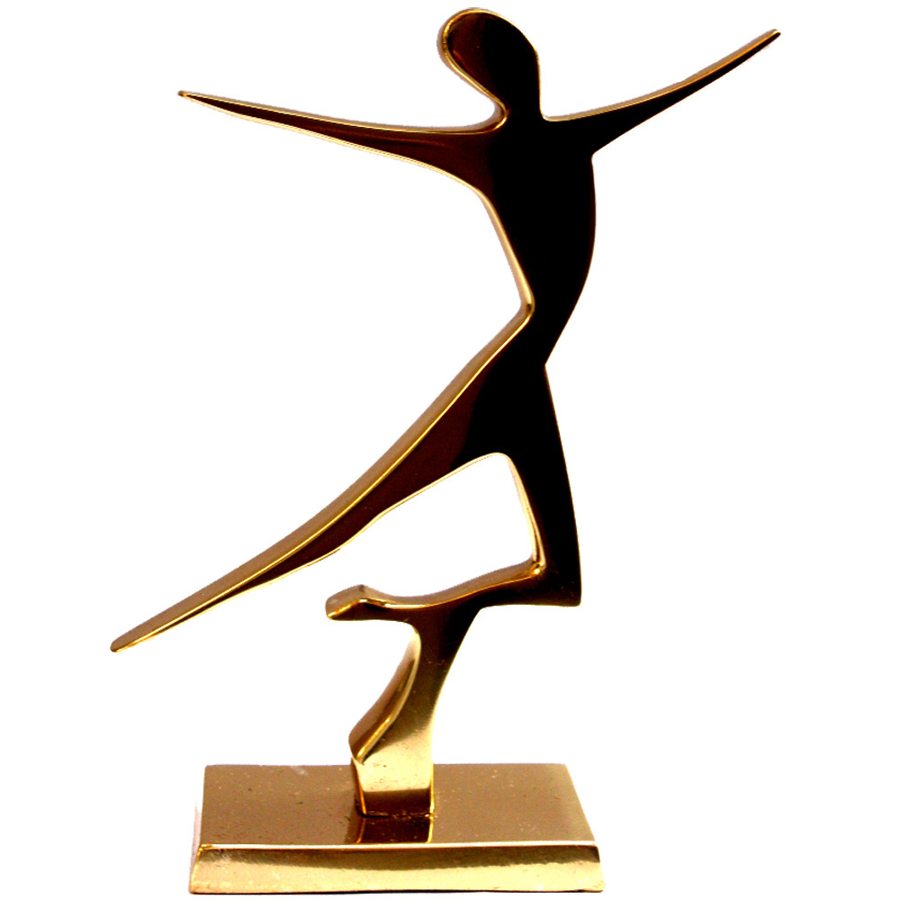 Estátua Dançarina - Bronze Maciço (16x11cm)  - BronzeShop
