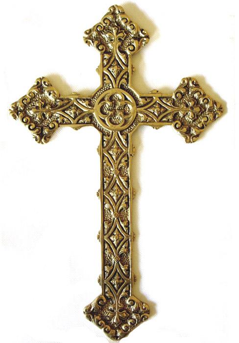 Cruz Trabalhada Grande - Bronze Maciço ref: 110  - Bronze Shop