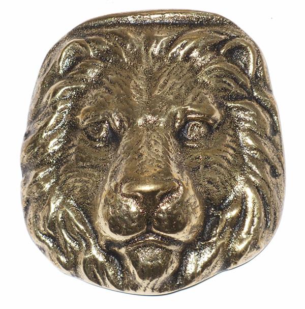 Cara de Leão em Bronze Maciço  - Bronze Shop