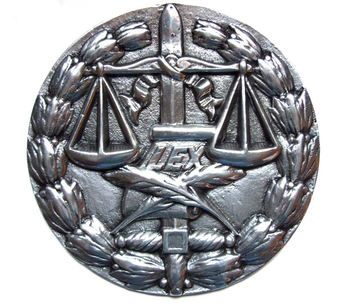 Medalhão da Justiça - Aluminio Polido  - BronzeShop