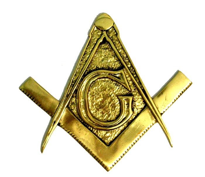 Brasão Maçonaria - Esquadro e Compasso - Bronze Maciço  - Bronze Shop