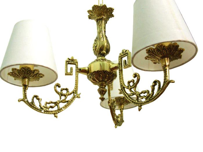 Lustre com Cúpula - Bronze Maciço  - BronzeShop