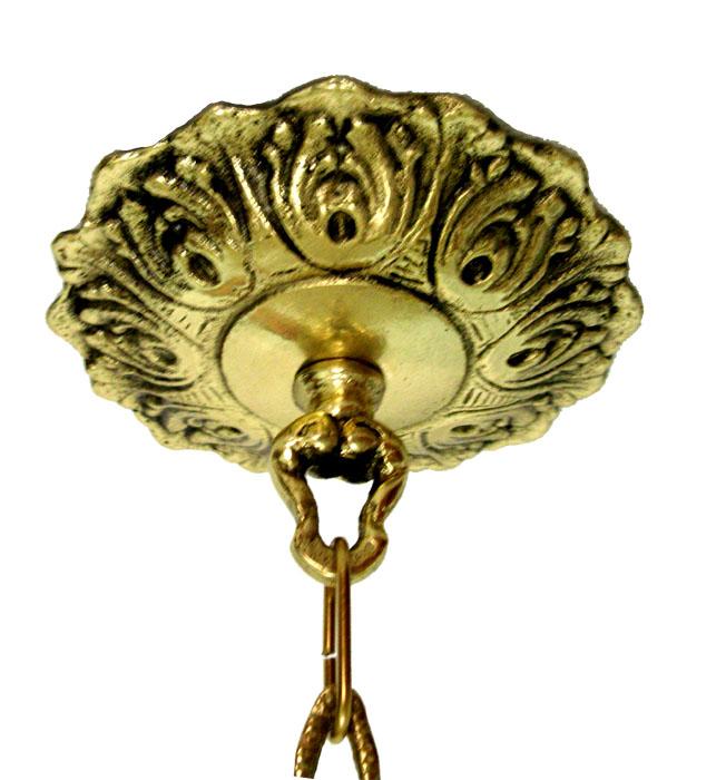 Lustre com Cúpula - Bronze Maciço  - Bronze Shop