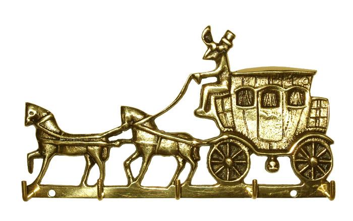 Porta Chaves Carruagem - Ref: 302  - Bronze Shop