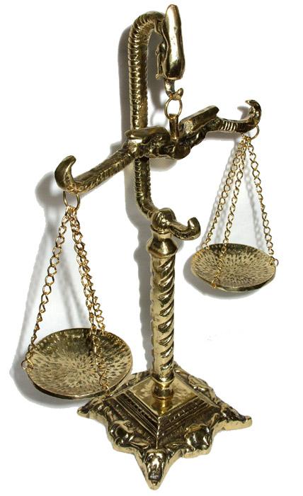 Balança da Justiça - Bronze  - Bronze Shop