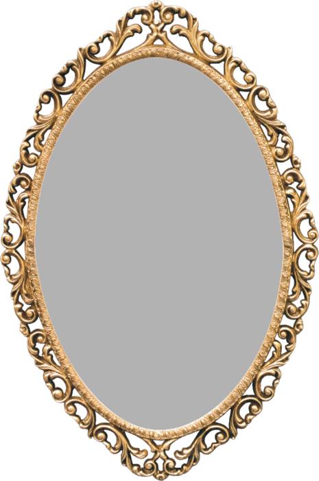 Moldura para Espelho Barroco Oval Grande - Bronze  - Bronze Shop