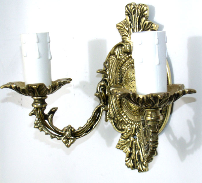 Luminária Arandela - Castiçal elétrico para 2 Lâmpadas - Bronze - ref: 3143  - BronzeShop