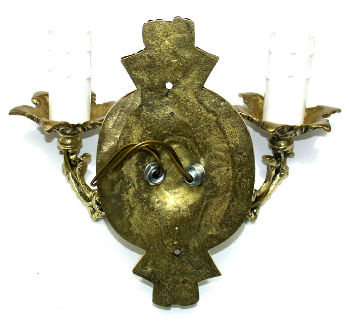 Luminária Arandela - Castiçal elétrico para 2 Lâmpadas - Bronze - ref: 3143  - Bronze Shop