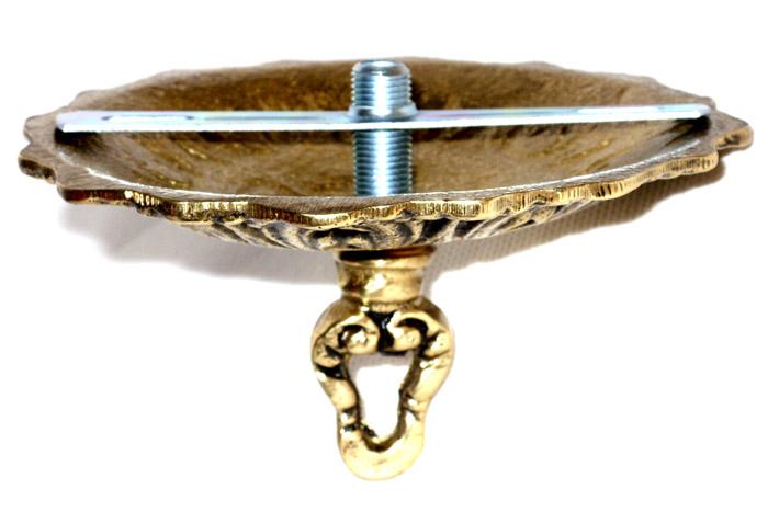 Suporte Canopla Completa para Lustre Leve - Bronze Maciço  - BronzeShop